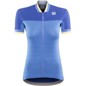 Sportful Grace Maillot de cyclisme Femme, parrot blue/blue cosmic